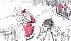 Nikolaus bereitet sich auf den 24. Dezember vor.